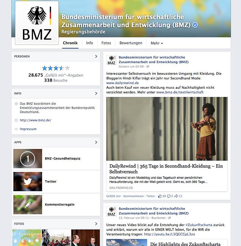 BMZ auf Facebook